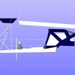 Dehler 35cws, TRIPLE CONSTRAINT, Helm Bimini_9