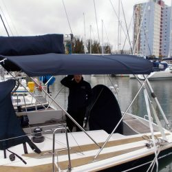 Dehler 39, 4 bar Bimini for use with mainsheet removed_1