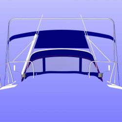 Dehler 39, 4 bar Bimini for use with mainsheet removed_9