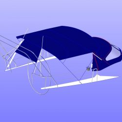 Dehler 39, 4 bar Bimini for use with mainsheet removed_10