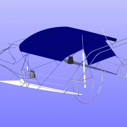 Dehler 39, 4 bar Bimini for use with mainsheet removed_11
