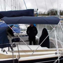 Dehler 39, 4 bar Bimini for use with mainsheet removed_2