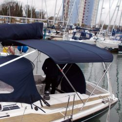 Dehler 39, 4 bar Bimini for use with mainsheet removed_3