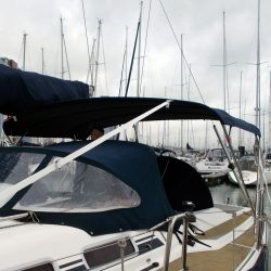 Dehler 39, 4 bar Bimini for use with mainsheet removed_4