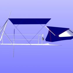 Dehler 39, 4 bar Bimini for use with mainsheet removed_5