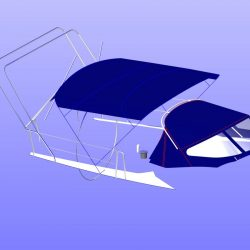 Dehler 39, 4 bar Bimini for use with mainsheet removed_8