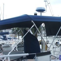 Grand Soleil 45 bimini and zip attached infill panel_3