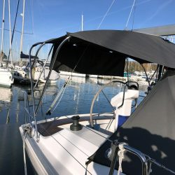 Hanse 325 Helm Bimini with connection panel_6