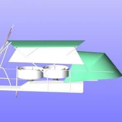 Hanse 385 Bimini with Optional Side Shade Panels_3