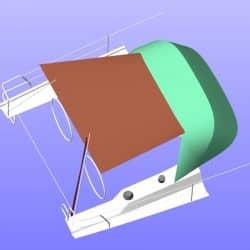 Hanse 385 Pole Bimini fitted to Covercraft Sprayhood_4