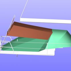 Hanse 385 Pole Bimini shown with optional side panels_6
