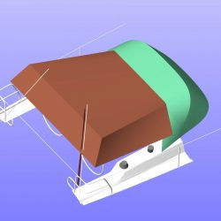Hanse 385 Pole Bimini shown with optional side panels_9