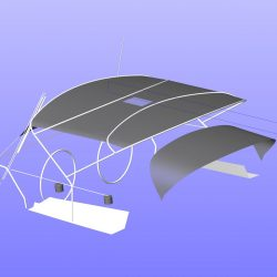 Hanse 400 Bimini with optional side shade panels_11