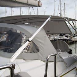 Hanse 400 Bimini with optional side shade panels_4