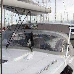 Hanse 400 Bimini with optional side shade panels_5