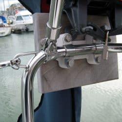 Hanse 400 Bimini with optional side shade panels_7
