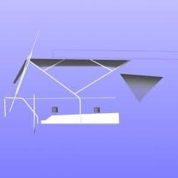 Hanse 400 Bimini with optional side shade panels_9