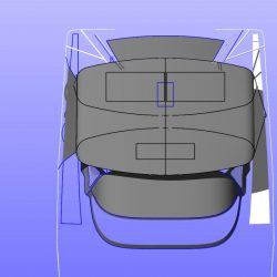 Hanse 415 4 bar Bimini with optional side shade panels in mesh and customer supplied solar panels fitted_14