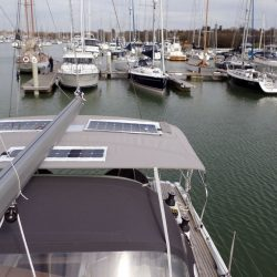 Hanse 415 4 bar Bimini with customer supplied solar panels fitted_5