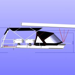 Hanse 455 Bimini approxiamte heights from cockpit floor
