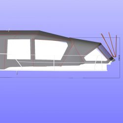Approximate height from cockpit floor shown with Bimini Conversion and Tecsew Sprayhood