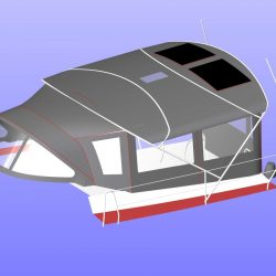 Hanse 531 Bimini Conversion fitted to Tecsew Bimini fitted with solar panels