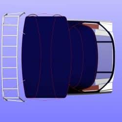 Hanse 575 Bimini, wider non standard design_11
