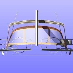 Hanse 575 Narrow standard Bimini_6