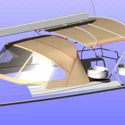 Hanse 575 Narrow standard Bimini_8