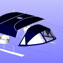 Jeanneau Sun Odyssey 39ds Bimini Showing optional zip attached side panels_14