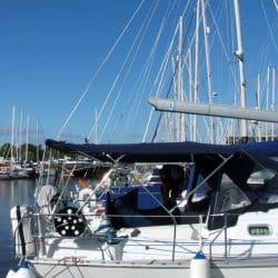 Jeanneau Sun Odyssey 43ds Bimini, new design with aft extension_2