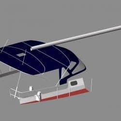 Jeanneau Sun Odyssey 43ds Bimini, new design with aft extension_5