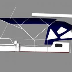Jeanneau Sun Odyssey 43ds Bimini, new design with aft extension_6