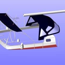 Jeanneau Sun Odyssey 43ds Bimini, new design with aft extension_9