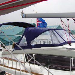 Jeanneau Sun Odyssey 44ds Helm Bimini with infill panel_3