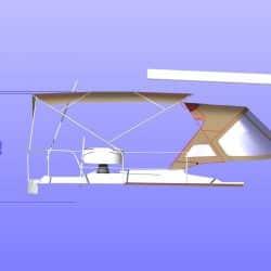Jeanneau Sun Odyssey 469 Bimini, design 2, approximate heights from cockpit floor