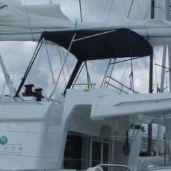 Lagoon 450 Flybridge Bimini and zipped front screen_3