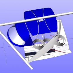 Moody 425 Bimini, later design, shown with optional side shade curtains_15
