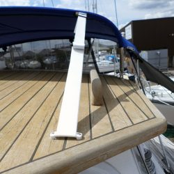 Moody 44 with doghouse, Bimini showing optional side shade panels_2