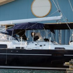 Moody 54 Bimini, design 2 with aft extension panel, ref Breth_3