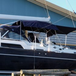 Moody 54 Bimini, design 2 with aft extension panel, ref Breth_4
