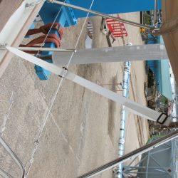 Southerly 110, 3 part Bimini with high model sprayhood_6