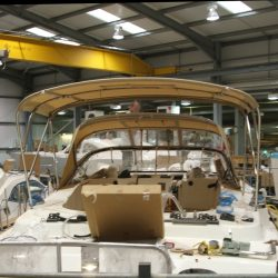 Southerly 420 Bimini fitted with roof support struts, ref 5829_1