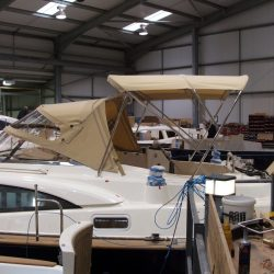 Southerly 420 Bimini fitted with roof support struts, ref 5829_2