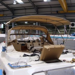 Southerly 420 Bimini fitted with roof support struts, ref 5829_3