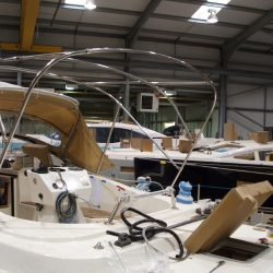 Southerly 420 Bimini fitted with roof support struts, ref 5829_4
