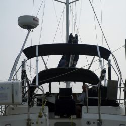 Southerly 42rst Helm Bimini utilising existing Cockpit Enclosure frame, boat 36 onwards_4
