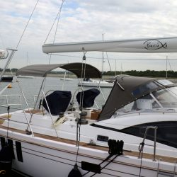 Southerly 535 with windscreen, Bimini on slide track with Sprayhood connection panel_10