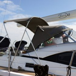 Southerly 535 with windscreen, Bimini on slide track with Sprayhood connection panel_5