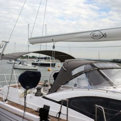 Southerly 535 with windscreen, Bimini on slide track with Sprayhood connection panel_9